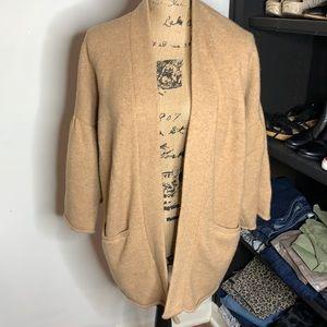 Lou & Grey pleated sleeve cardigan, size XS